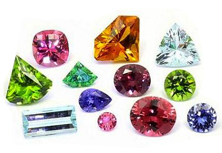 Gemstones Color Chart